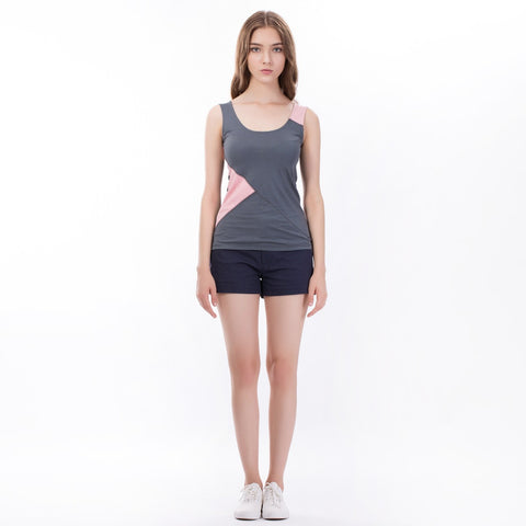 Controlled Commodity The Wrap Tank in Grey and Pink