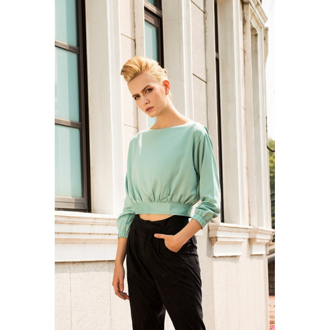 LAGEROSE Tea time at the Ritz cropped top
