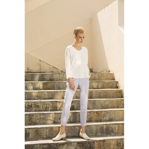 LAGEROSE The leisure moment tapered pants in Pastel Blue