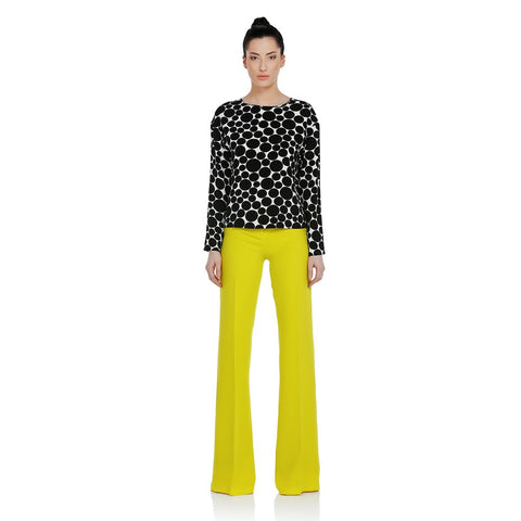 EXQUISE Asymmetric Dotted Blouse