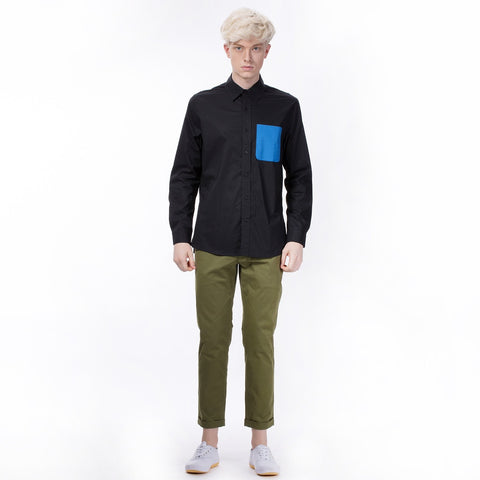 Controlled Commodity The Contrast Pocket Shirt in Black