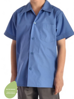 Boys School Blue Open Neck Shirt