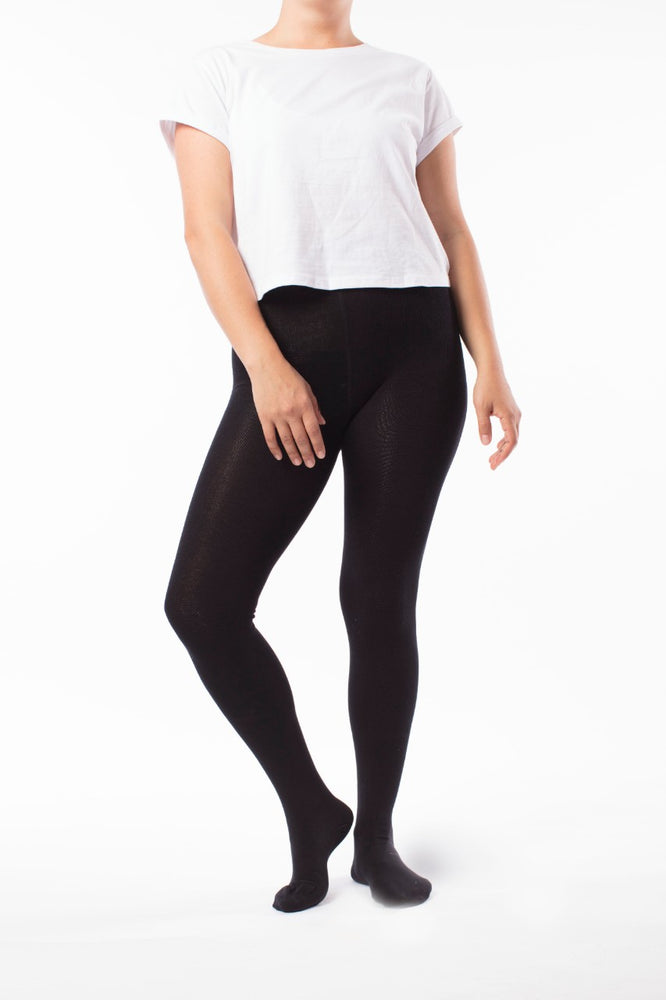Adult Black Bamboo Tights