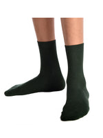 3PK Bottle Green Ankle Super-Soft Bamboo School Socks