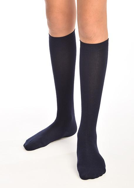 3PK Navy Knee Length Super-Soft Bamboo School Socks