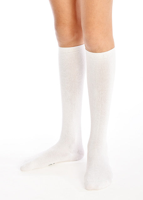 3PK White Knee Length Super-Soft Bamboo School Socks
