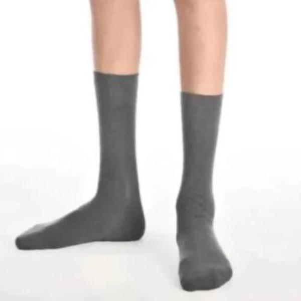 3PK Grey Ankle Super-Soft Bamboo School Socks