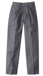 Midford Boys Pleated Waist Melange Pants - Mid Grey