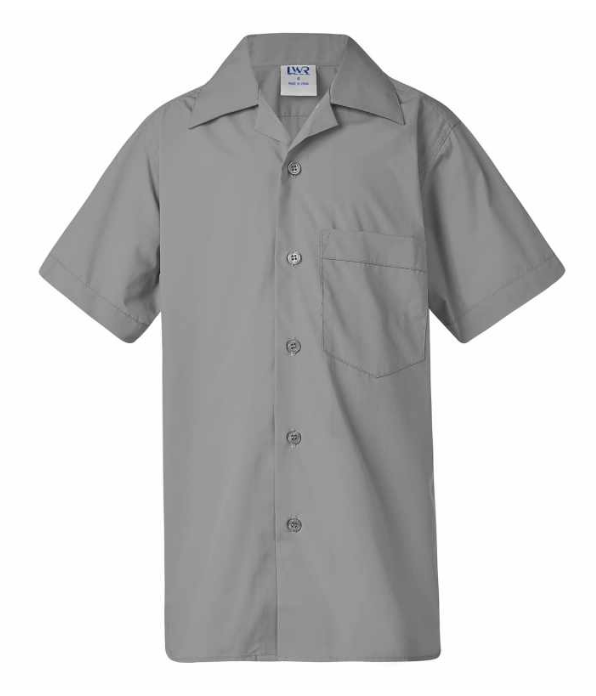 Grey LWR Open Neck Shirt