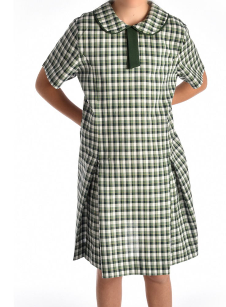 Green Tartan - Peter Pan Collar