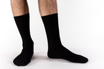 Men's Black Bamboo and Organic Cotton Socks