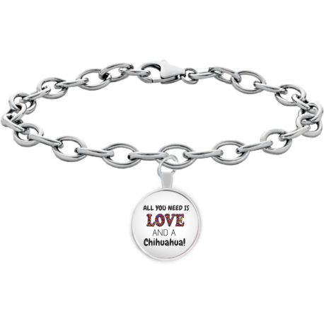 All You Need Is Love and A Chihuahua Beautiful Bracelet