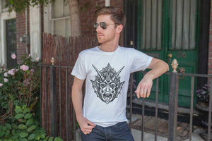Horned Demon Occult Men's Short Sleeve T-Shirt