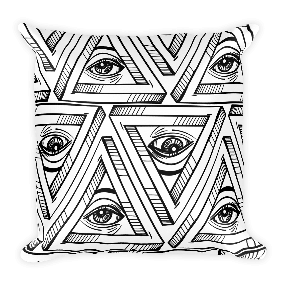 Eye of Providence Occult Square Pillow
