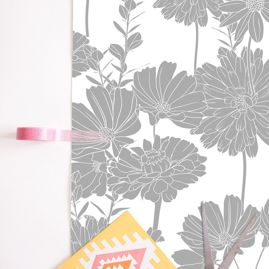 Ash Flowers Removable Wallpaper