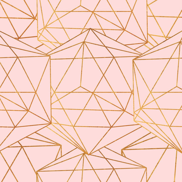 Geometric Glam Removable Wallpaper