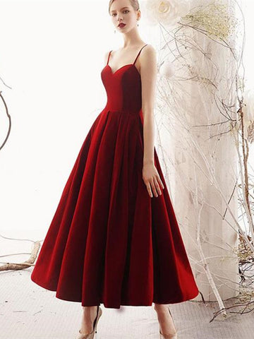 Sweetheart neck burgundy prom dresses,  Burgundy formal evening dresses