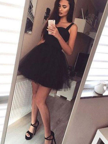 A Line Short Sweetheart Neck Pink/Black Prom Dresses, Short Pink/Black Graduation/Homecoming Dresses