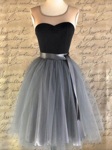 Custom Made Round Neck Sleeveless Short Prom Dresses, Short Graduation Dresses, Homecoming Dresses