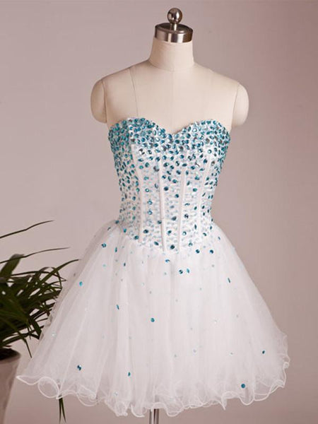 A Line Sweetheart Neck Short Prom Dresses, Short Homecoming Dresses, Graduation Dresses
