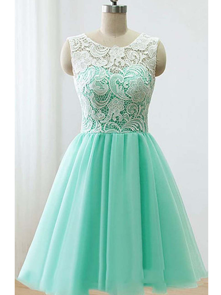 Green/Yellow/Blue Lace Prom