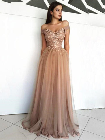 Sweetheart Neck Champagne Off Shoulder Lace Prom Dresses,Champagne Lace Formal Dress,Lace Evening Dress