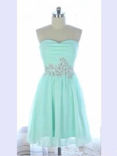 Custom Made A Line Sweetheart Neck Short Light Blue Prom Dress, Homecoming Dress, Graduation Dress, Light Blue Bridesmaid Dress