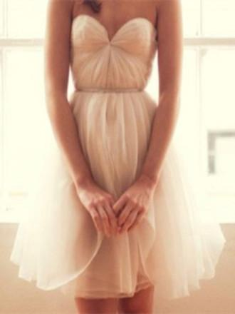 A Line Sweetheart Neck Short Prom Dresses, Ivory Homecoming/Graduation Dresses