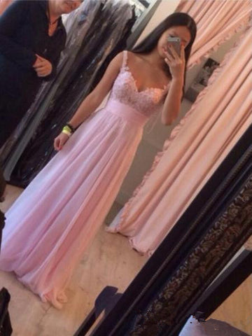 Custom Made A Line Sweetheart Neck Pink Long Prom Dresses, Pink Formal Dresses, Pink Bridesmaid Dress