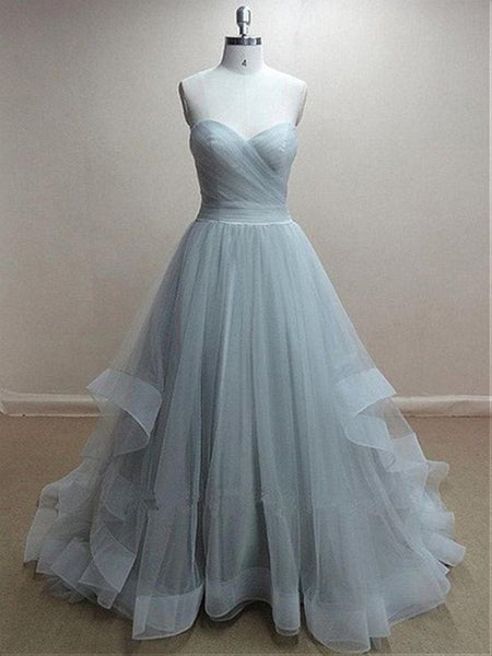 Custom Made Sweetheart Neck Floor Length Prom Dress, Prom Gown, Formal Dress