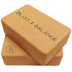 Two Cork Yoga Blocks - Two Blocks