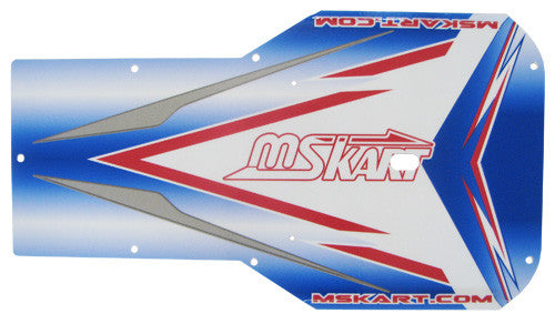 MS Kart Floor Tray Sticker - Blue Falcon