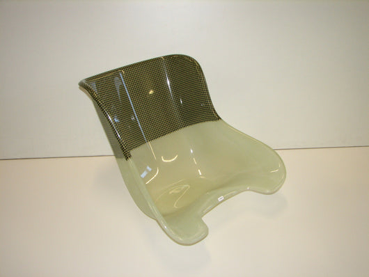 MS Kart Seat 1/2 Carbon, 1/2  Fiber Glass