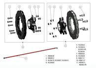MS Kart Rear Brake Disc Complete Assembly - 50mm Floating