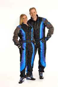 Speed Level 2 CIK/FIA Suit Black/Blue/Grey Size - 170/176