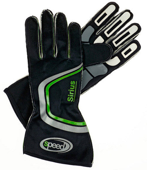 Speed Sirius Black/Green Gloves Size-11