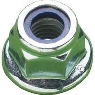 M8 Flanged Nyloc Nut Zinc Plated
