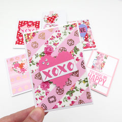 Pink Washi Tape Valentines Card