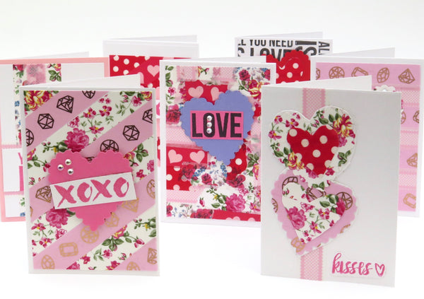 Easy Valentines Day Cards with Washi Tape