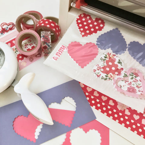 Xyron Creative Station Heart Stickers for Valentines Day Cards