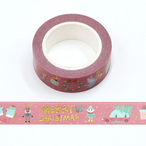 Washi Tape Foil Merry Christmas