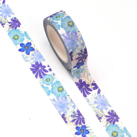 Washi Tape Blue Flowers