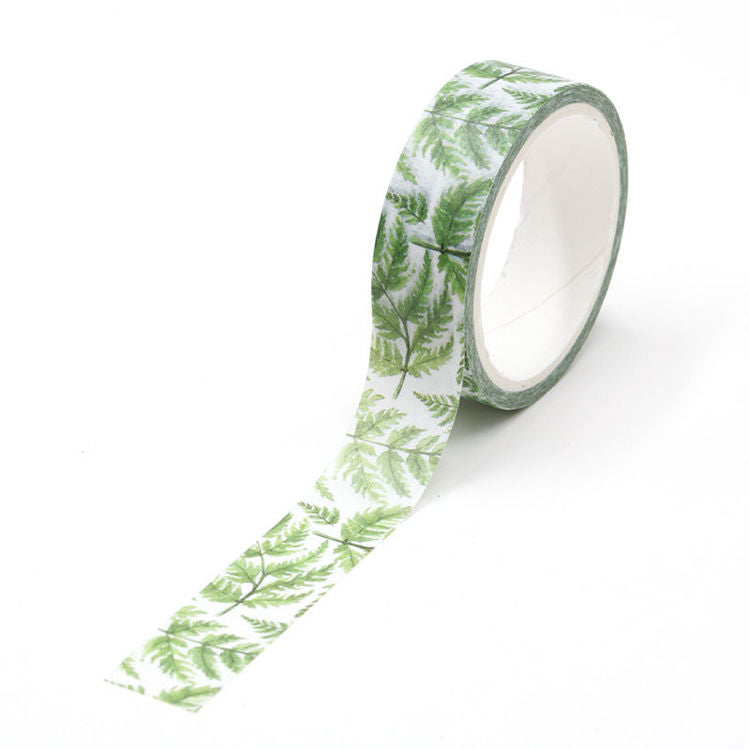 Washi Tape - Tropical Fern Leaf