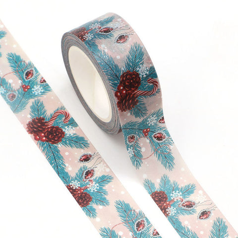 Washi Tape - Wide Christmas Pine Cones & Candy Canes