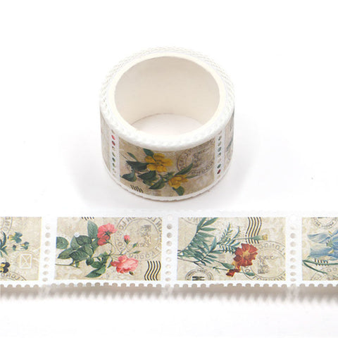 Washi Tape, Vintage Floral Stamps