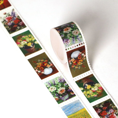Washi Tape, Flower Bouquet Stamps
