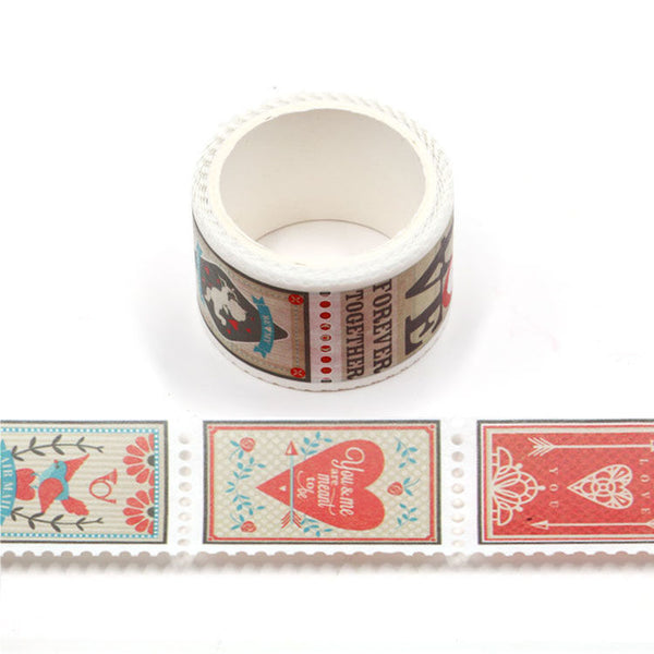 Washi Tape, Vintage Valentine Stamps