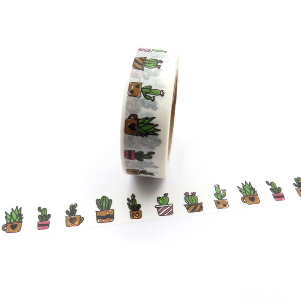 Pot Plant Washi Tape Succulents