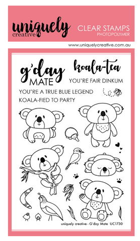 G'day Mate Photopolymer stamp set by Uniquely Creative