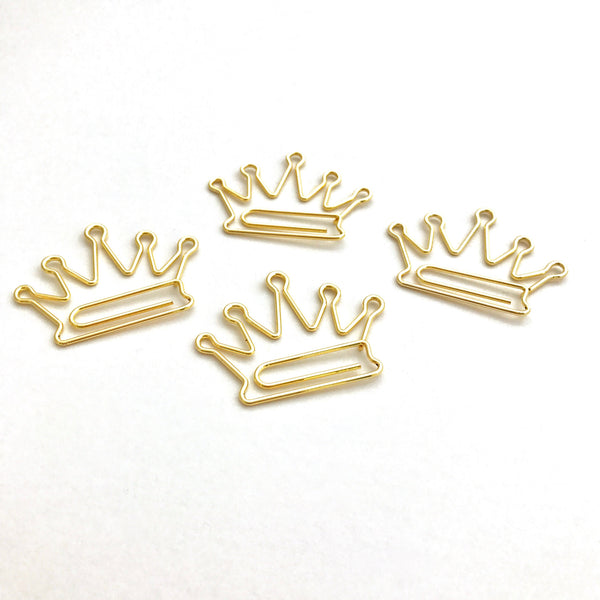 Crown Paper Clips for Planners